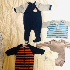 LOT OF 5 BABY BOY FITS